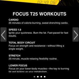 Beach body T25 workouts